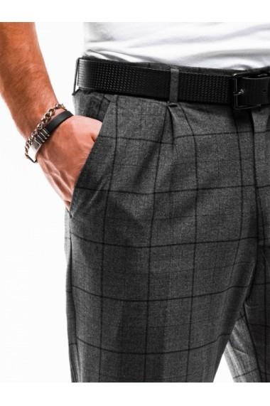 Pantaloni eleganti barbati P884 - gri-inchis