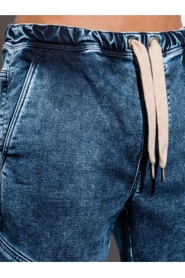 Blugi scurti barbati W219 - albastru-inchis