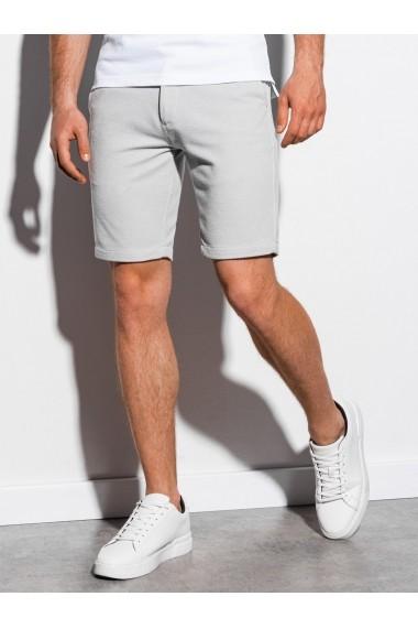 Pantaloni scurti premium barbati W224 - gri-deschis