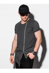 Tricou barbati S1217 - gri-inchis