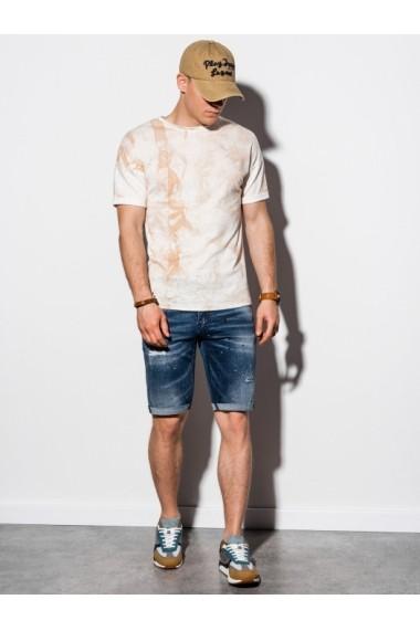 Tricou slim fit barbati S1219 - bej
