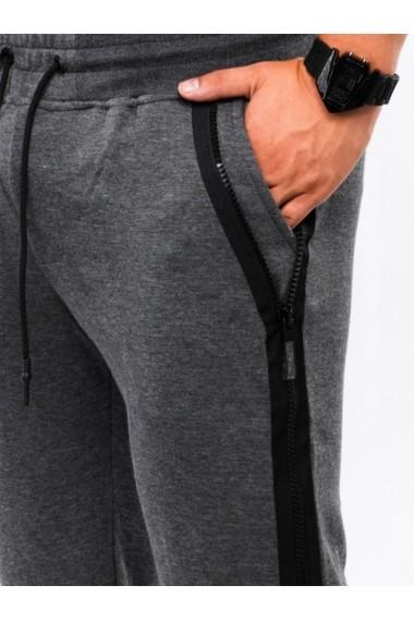 Pantaloni scurti - W054-gri-inchis