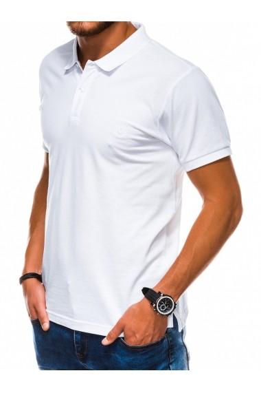 Tricou polo barbati S1048 - alb