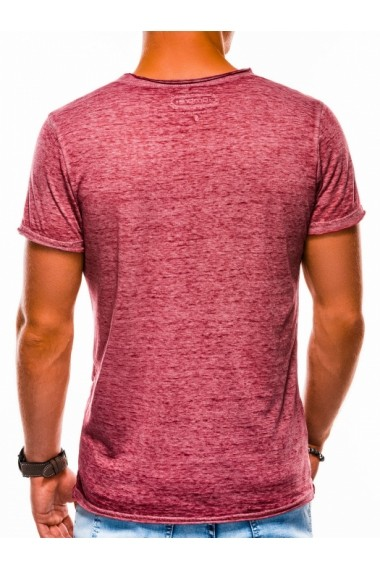 Tricou barbati S1051 - rosu-inchis