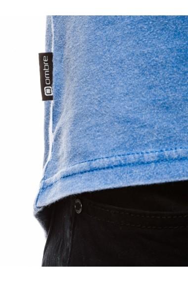 Tricou barbati S1037 - bleumarin