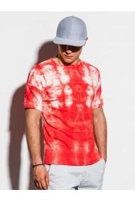 Tricou slim fit barbati S1219 - rosu