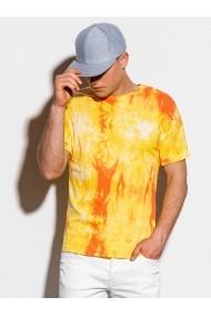 Tricou slim fit barbati S1219 - galben