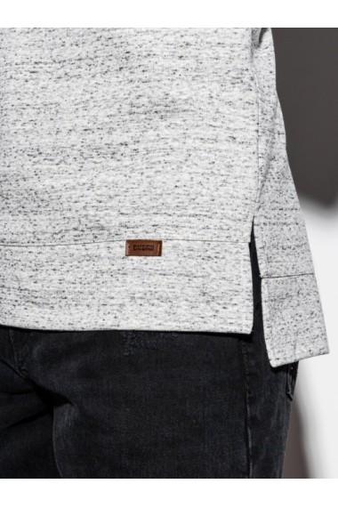 Hanorac cu maneca scurta B1067 - gri-inchis
