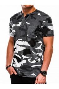 Tricou barbati S1040 - negru-gri