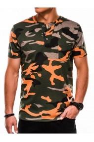 Tricou barbati S1040 - verde-portocaliu