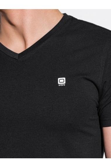 Tricou slim fit barbati S1183 - negru