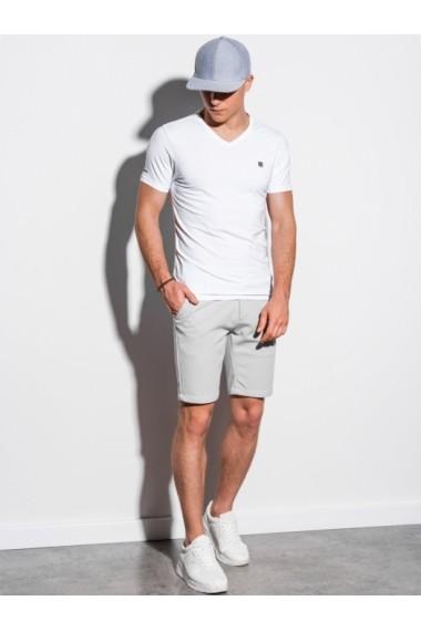 Tricou slim fit barbati S1183 - alb