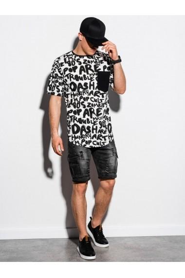 Tricou slim fit barbati S1218 - alb