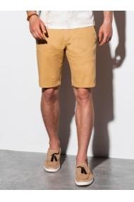 Pantaloni scurti premium barbati W243 - bej-inchis