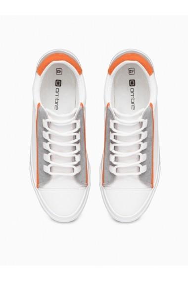 Tenisi barbati T346 - alb-portocaliu