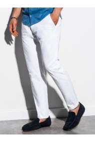 Pantaloni premium casual barbati - P894-alb