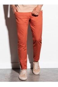 Pantaloni premium casual barbati - P894-portocaliu