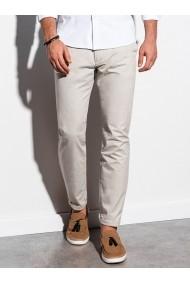 Pantaloni premium casual barbati - P894-bej-deschis