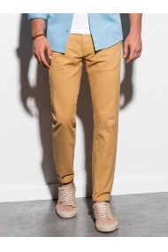 Pantaloni premium casual barbati - P894-bej-inchis