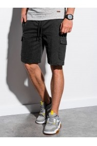 Pantaloni scurti barbati W225 - negru