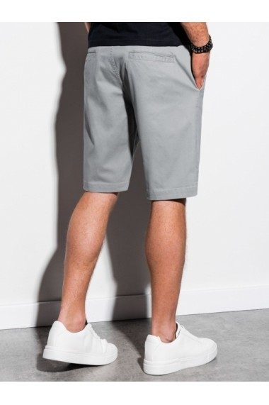 Pantaloni scurti barbati W243 - gri-inchis