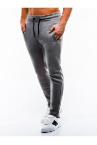Pantaloni de trening barbati - P866-gri-inchis