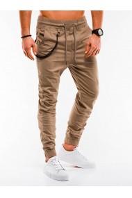 Pantaloni casual barbati P908 - bej