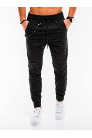 Pantaloni casual barbati P908 - negru