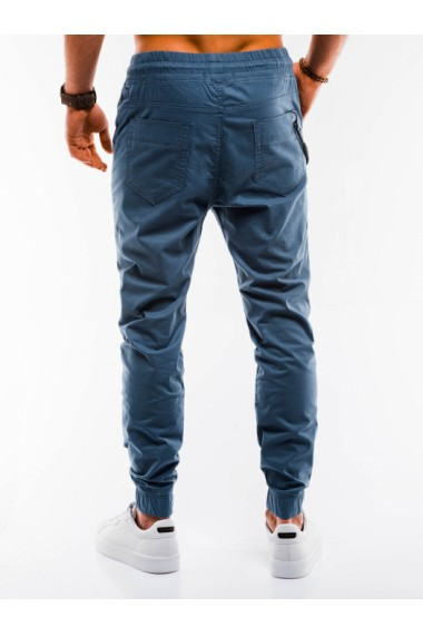Pantaloni casual barbati P908 - albastru