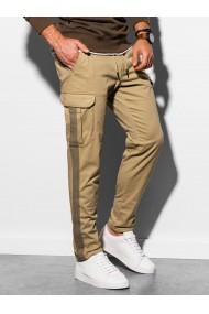 Pantaloni premium barbati P893 - camel