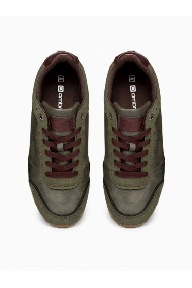 Sneakers casual barbati - T332 - khaki