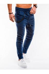 Pantaloni casual barbati P908 - bleumarin
