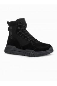 Sneakers casual barbati T348 - negru