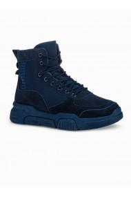 Sneakers casual barbati T348 - bleumarin