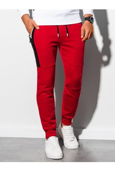 Pantaloni de trening barbati - P903 - rosu