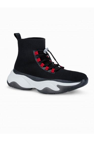 Sneakers casual barbati T355 - negru