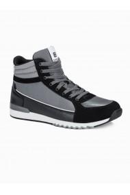Sneakers casual barbati T358 - gri