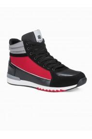 Sneakers casual barbati T358 - negru