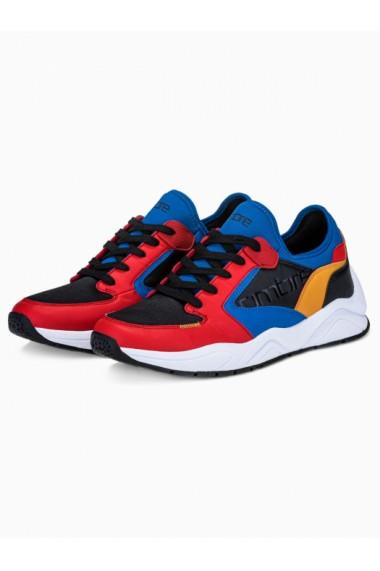 Sneakers casual barbati T363 - rosu