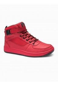 Sneakers barbati T317-rosu