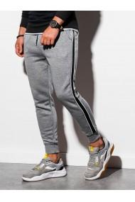 Pantaloni de trening barbati - P898 - gri-deschis