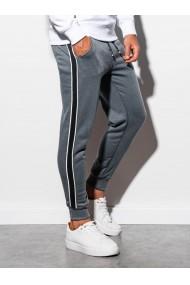 Pantaloni de trening barbati - P898 - gri-inchis