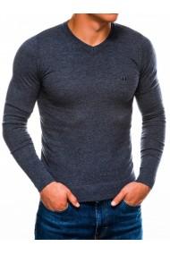 Bluza pentru barbati din bumbac bleumarin deschis casual slim fit - E74