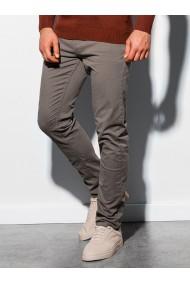 Pantaloni barbati P895 - bej-inchis
