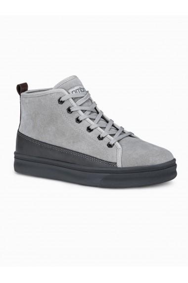 Sneakers barbati T362 - gri