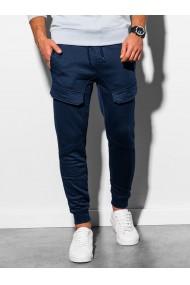 Pantaloni de trening barbati - P904 - bleumarin