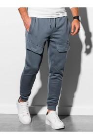 Pantaloni de trening barbati - P904 - gri-inchis