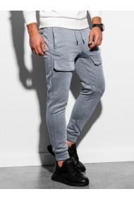 Pantaloni de trening barbati - P904 - gri-deschis