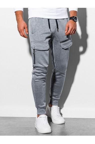 Pantaloni de trening barbati - P905 - gri-deschis