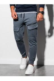 Pantaloni de trening barbati - P905 - gri-inchis